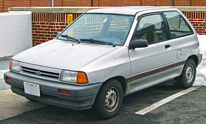 1988-1989 Ford Festiva photographed in College...
