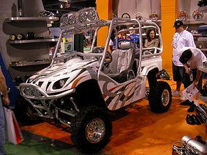 A wikipedia:Yamaha Rhino at the 2006 SEMA Show