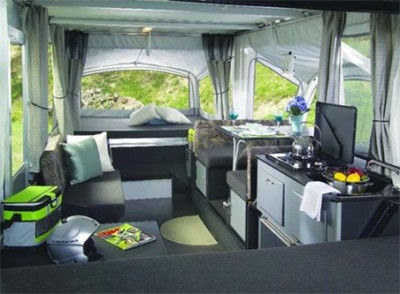 Inside the Fleetwood Evolution Camper
